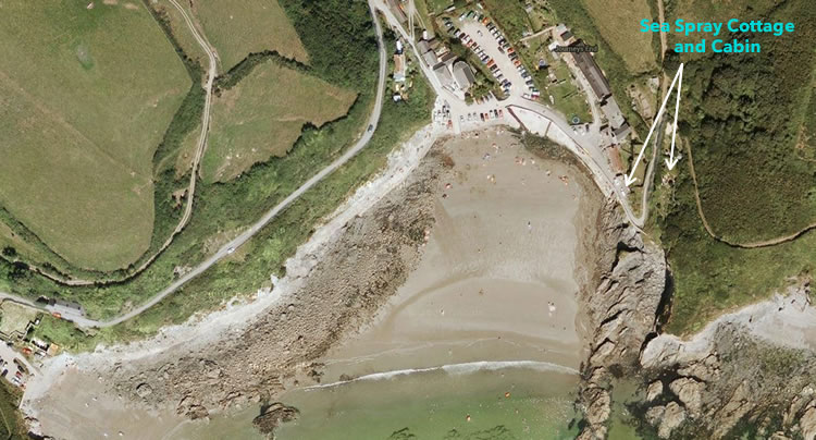 google map SeaSpray Cornwall Accommodation